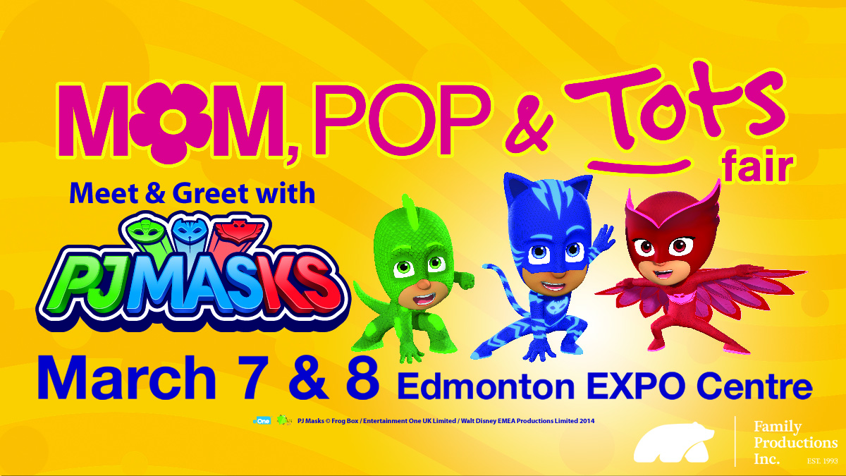 PJ Mask at the Mom, Pop & Tots Fair